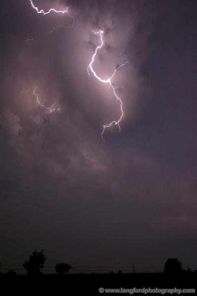 As the storm got closer, we got a better view of the lightning.