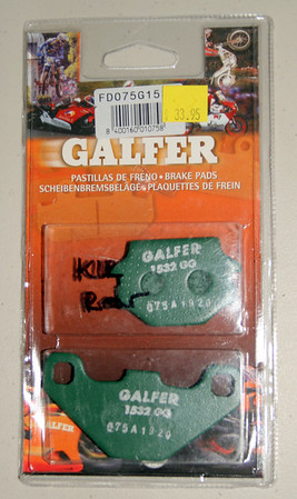 Kawasaki KLR650 Galfer brake pads