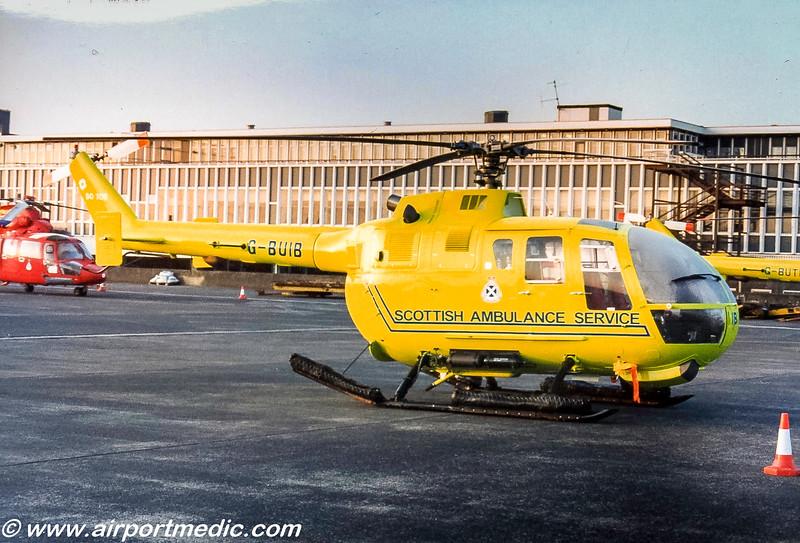 G-BUIB Bo105 Scottish Ambulance Service @ Prestwick Airport (EGPK)
