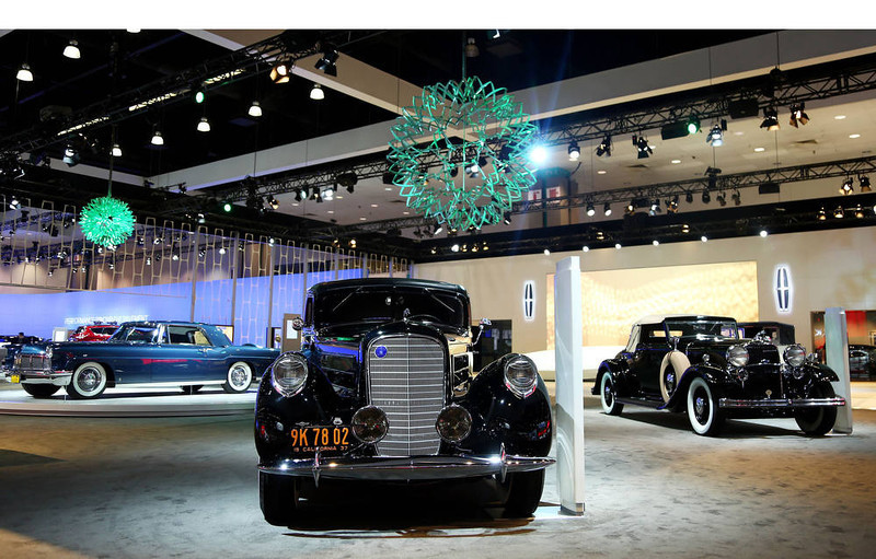 . Lincoln\'s Heritage on Display is seen during the Los Angeles Auto Show press day, Wednesday, Nov. 28, 2012 in Los Angeles. (Photo by Matt Sayles/Invision for Lincoln/AP Images).  (PRNewsFoto/Lincoln)