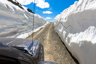 Driving near the top of Ophir Pass, CO in May '17