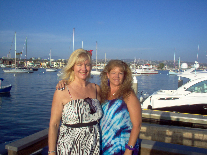 Jeannine Mansur and Brenda Bailey on the Bay