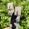 2.00ctw+ Emerald and Diamond Art Deco Conversion Earrings 28