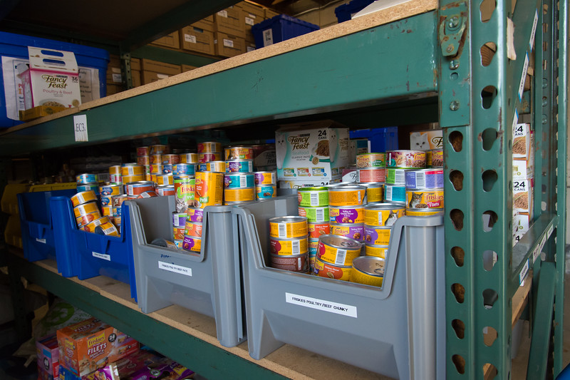 01/18/19  Wesley Bunnell | Staff  The CT Humane Society in Newington is holding a pet food dive for federal workers during this federal government shut down. Portions of the pet food pantry are shown.