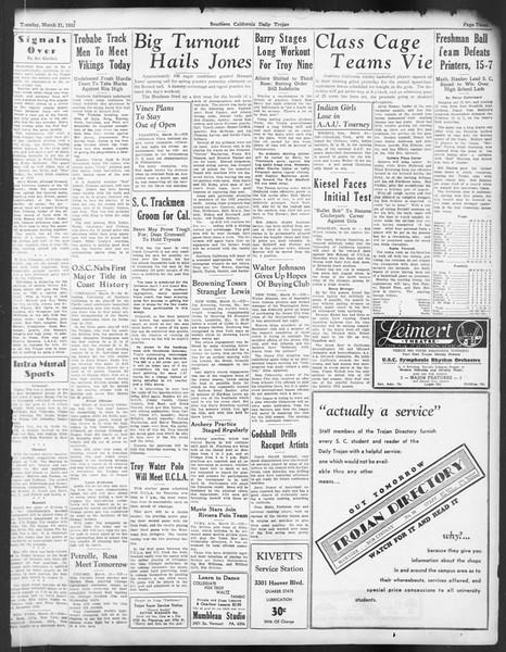 Daily Trojan, Vol. 24, No. 110, March 21, 1933