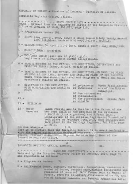 Ernestina Frommer Birth Certificate.jpg