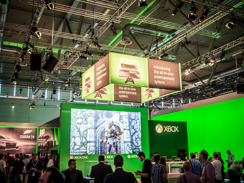 Xbox booth at Gamescom 2013