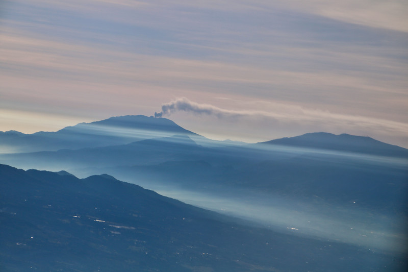 Turrialba Volcano in Costa Rica from the air