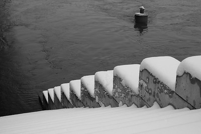 Winter on the Seine in Paris
