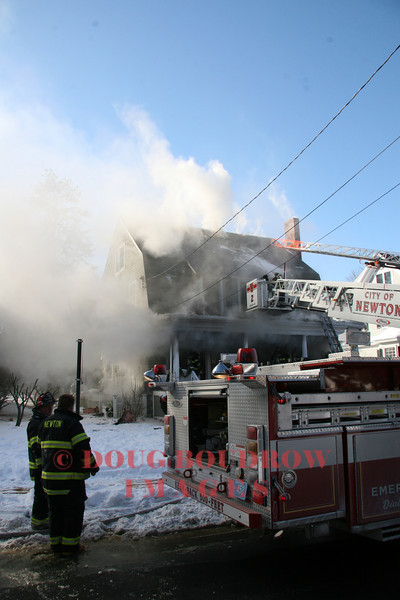 Newton, MA - 3rd Alarm, 448 Woodward Street, 1-1-09