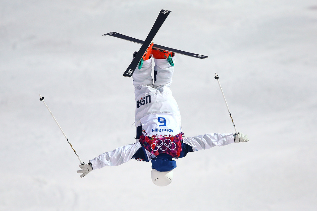 . Bradley Wilson of the United States competes in the Men\'s Moguls Qualification on day three of the Sochi 2014 Winter Olympics at Rosa Khutor Extreme Park on February 10, 2014 in Sochi, Russia.  (Photo by Cameron Spencer/Getty Images)