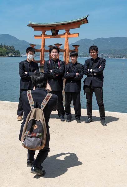 School-boys, Miyajima