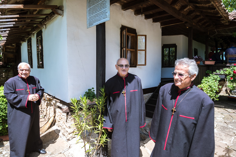 At St. Michael and Gabriel church in Arbannasi, Bulgaria, these 4 men sang for us in the church.