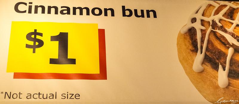 Ginormous cinnamon bun, Ikea