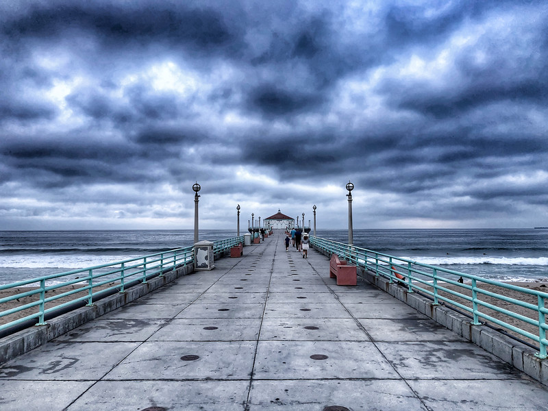 """Storm Clouds over the Manhattan Beach Pier"""