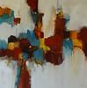 A Spot of Orange-Ridgers, 40x40 painting on canvas (AEAZAS14-1-16)