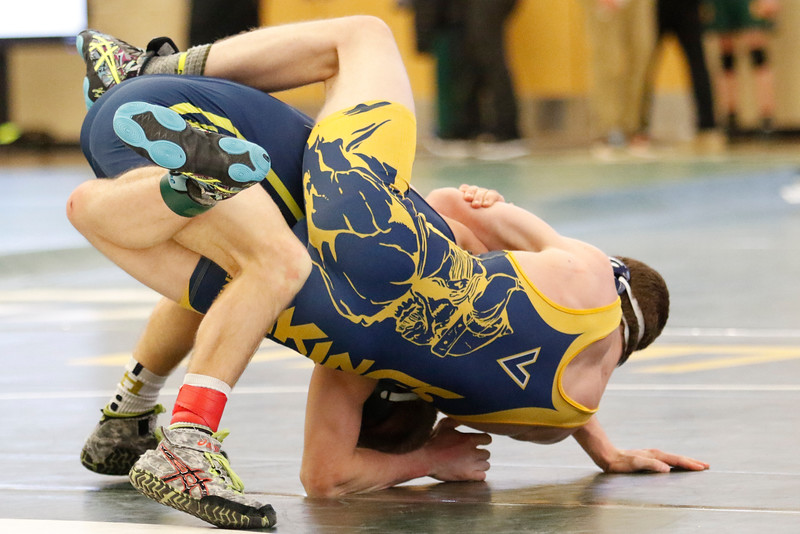 A MHSAA Individual Division 1 District  Wrestling was held at Groves High School Saturday February 10, 2018. (Oakland Press photo by Timothy Arrick)