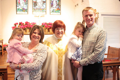 Abby and Emily Olson's Baptism