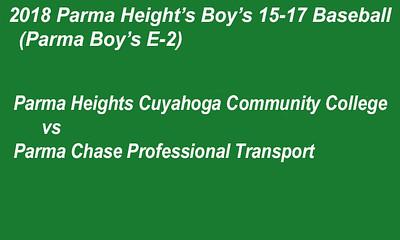 180709 Parma Heights Boy's 15-17 Baseball