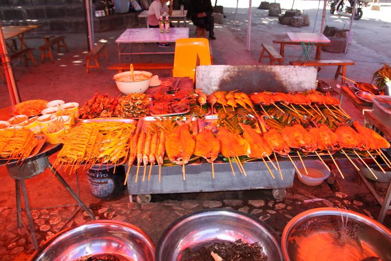 seafood from Er-Hai Lake, Dali
