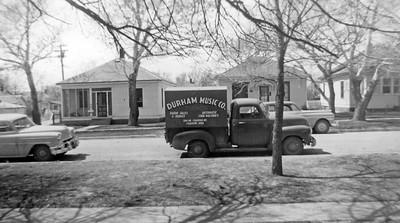 Durham Music Co. Vehicle on Morehead Street