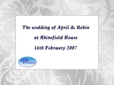 April & Robin's Wedding