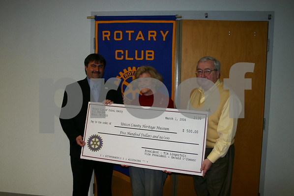 Rotary Donation to Heritage Museum - March 2006