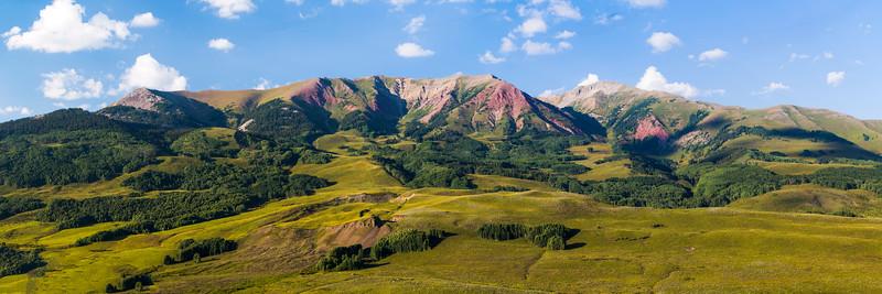 White Rock Mountain and Teocalli Mountain Panorama
