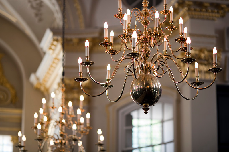 Lamps in Saint Marting in the Fields church, London, England, United Kingdom