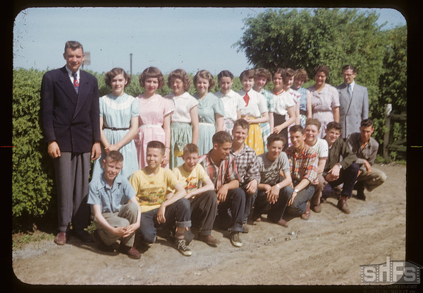 Bob Kyle and class. Aneroid. 06/12/1953