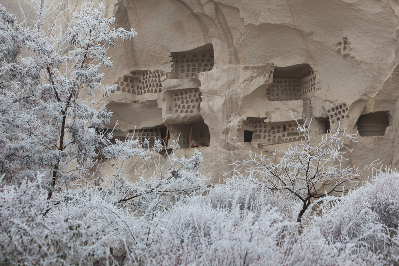 Cliff dwellings with pigeon lofts, Cappadocia