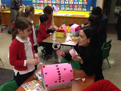 Kindergarten Valentine's breakfast and village