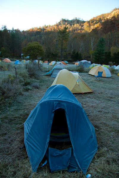Early morning Frost at Miguels Pizza and Camp Ground