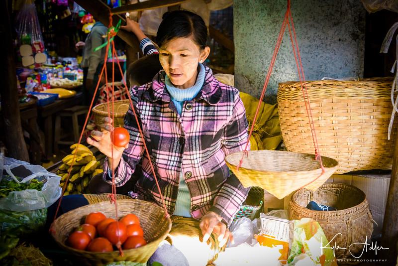 In Nyaung-U village market.