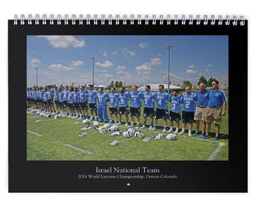 2015 Israel Lacrosse National Team calendar