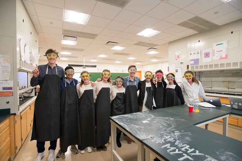 Emily Adler's Advanced Chemistry students make chalk