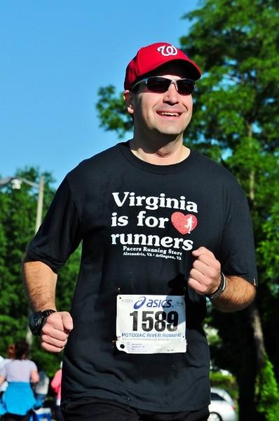 Craig enjoys the run