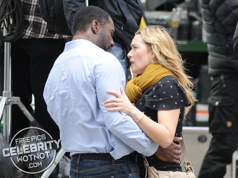 Idris Elba Kisses Kate Winslet Shooting The Mountain Between Us!