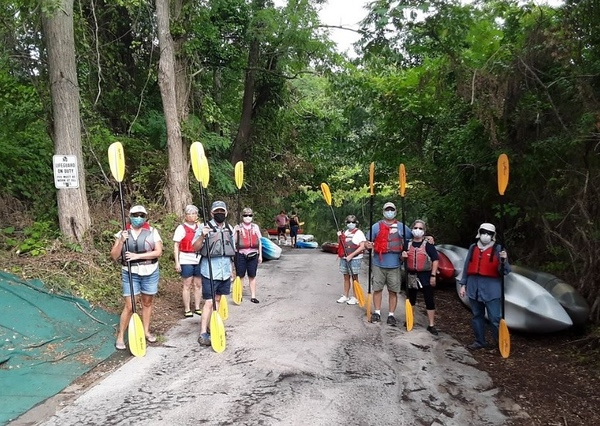 Bristol seniors kayaking