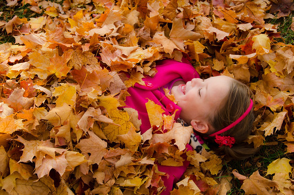 PK in the Fall Leaves