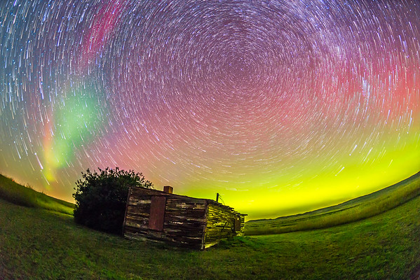 Aurora & Star Trails at Larson Ranch, Grasslands Park