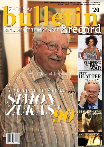 Bulletin & Record, July 2015 (cover photo). Lusaka, Zambia
