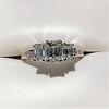 1.15ctw Emerald Cut Diamond Trilogy Ring 13