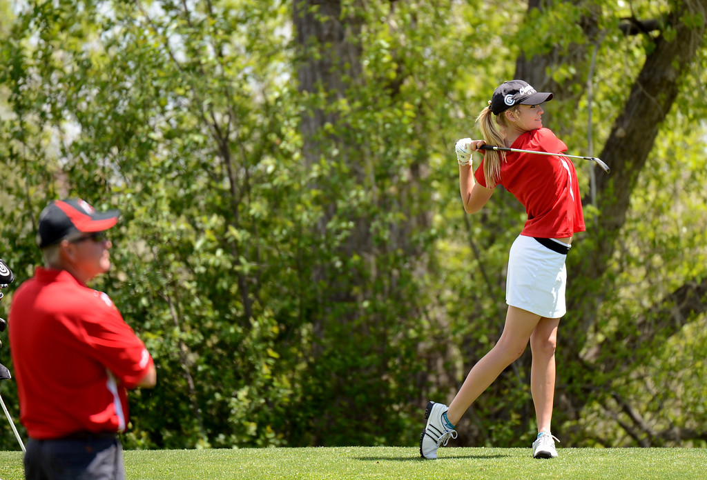 . ENGLEWOOD, CO. - MAY 21 : Kala Keltz of Montrose High School is in action during State 4A Girl\'s Golf Championship at Broken Tree Golf Course. Englewood, Colorado. May 21, 2013. Keltz won state 4A Individual championship. (Photo By Hyoung Chang/The Denver Post)