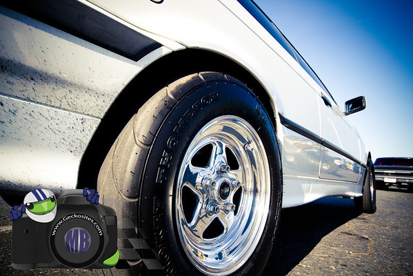 White V8 BMW