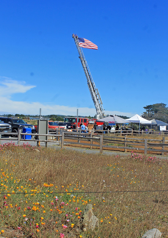 . One of the The Fort Bragg Fire Department�s contributions to the day.