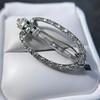 Art Deco Diamond and Onyx Brooch 9