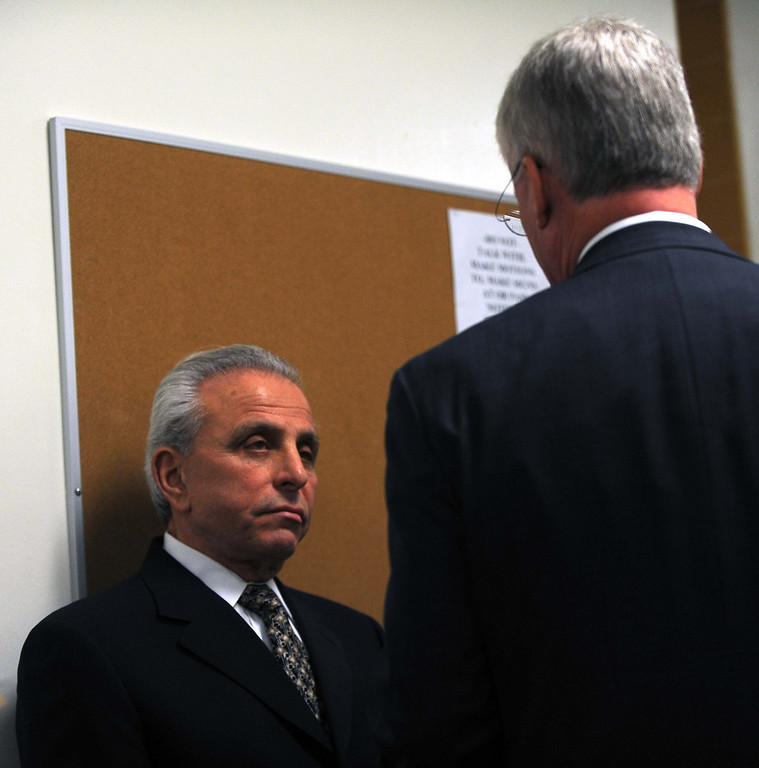 . Former San Bernardino International Airport developer Scot Spencer, who is suspected of conspiracy in connection with a corruption investigation at the airport, has been released from custody after posting bail. Booking records indicate Spencer was released at 4:25 a.m. Tuesday from jail. Spencer and his co-defendant Felice Luciano, 69, appeared this morning in San Bernardino Superior Court for a pretrial hearing. Prosecutor Robert Brown confirmed that Spencer posted bond on $1 million bail Tuesday morning.LaFonzo Carter/ Staff Photographer