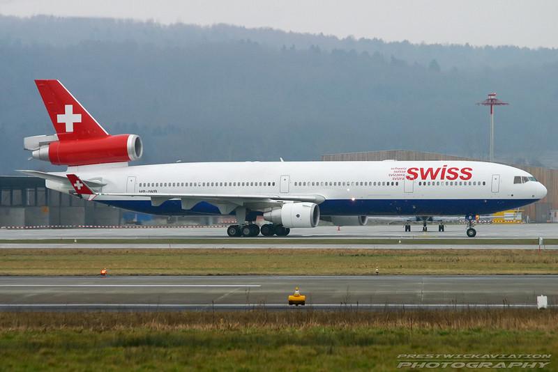 HB-IWB. McDonnell Douglas MD-11. Swiss. Zurich. 260103.