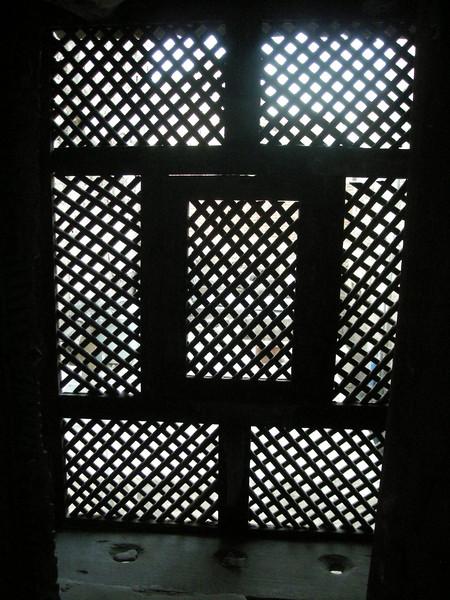 wooden window screen in my hotel, old Sana'a